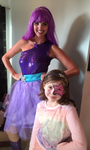 Popstar and birthday girl